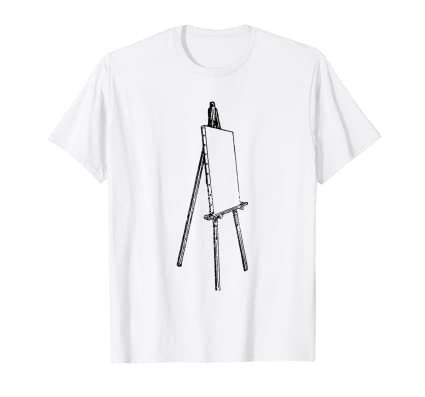 Artist Easle icon t shirt for lovers of painters drawings