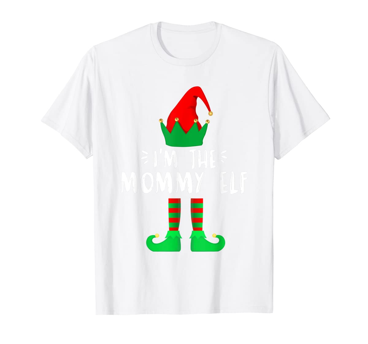 I'm the Mommy ELF matching family group Christmas T-Shirt-Men's T-Shirt-White