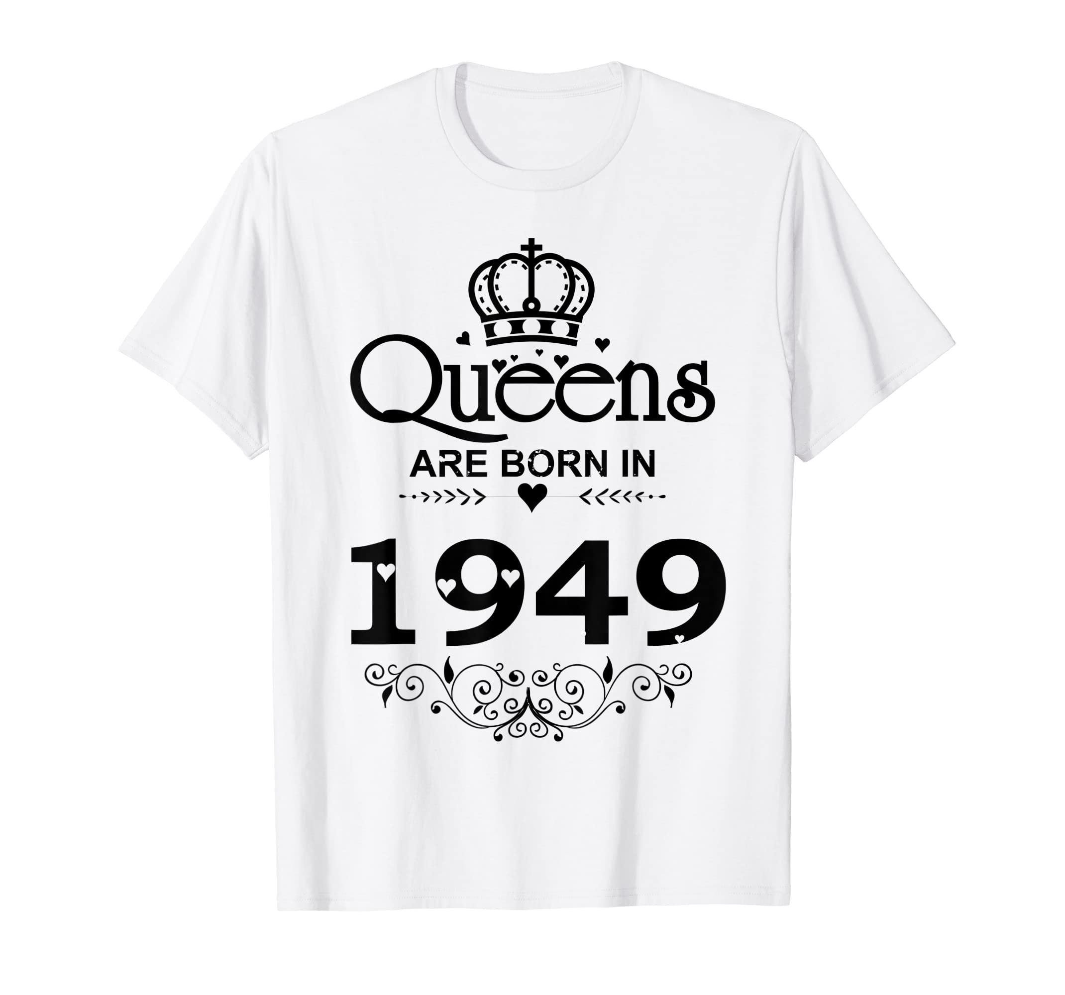 Amazon Vintage Queens Are Born In 1949 T Shirt 70th Birthday Gifts Clothing