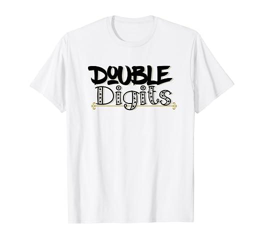 Amazon Double Digits 10 Year Birthday T Shirt Girls Boy Bday