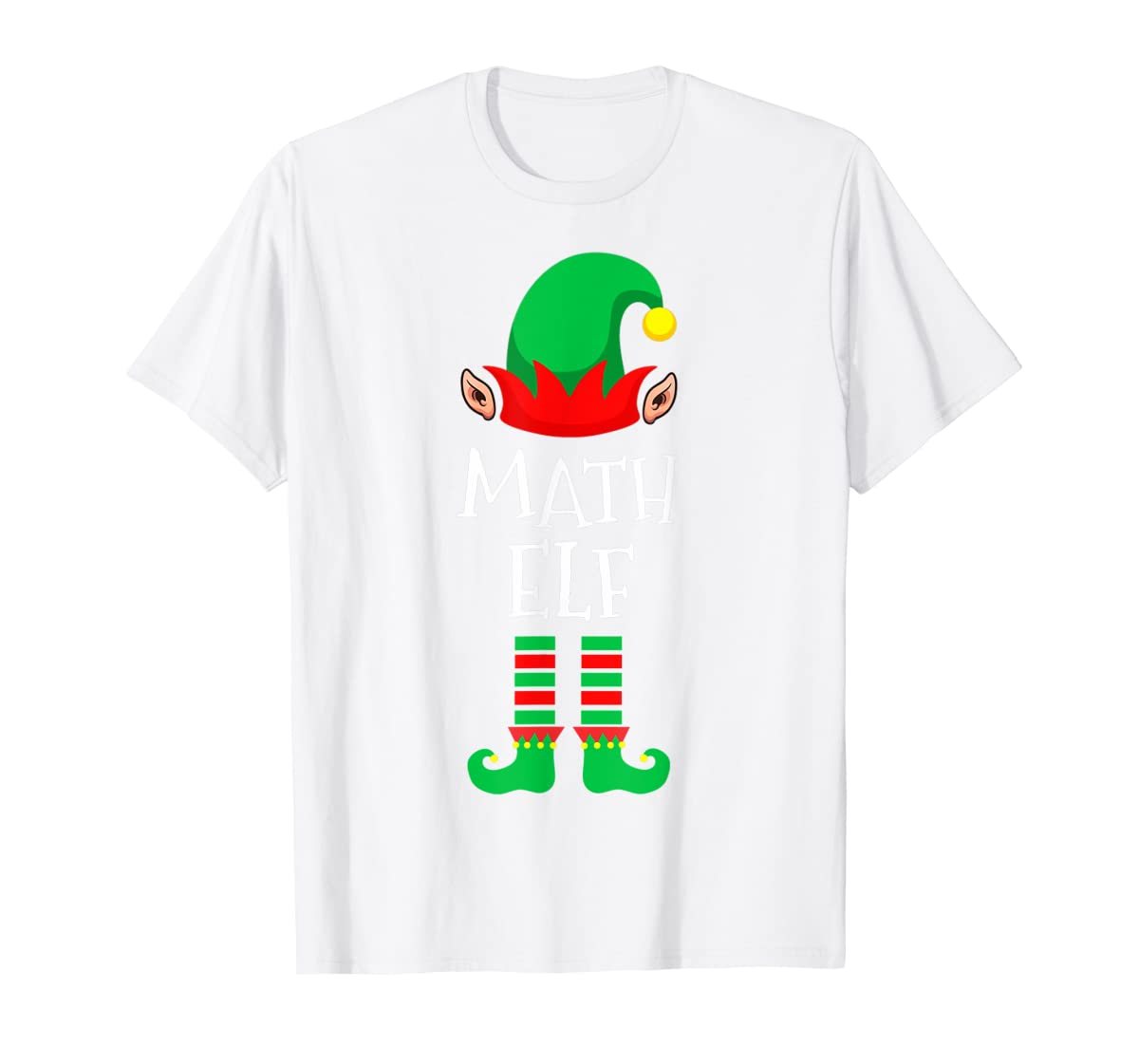 Math Elf - Funny School Teacher Christmas T-Shirt-Men's T-Shirt-White