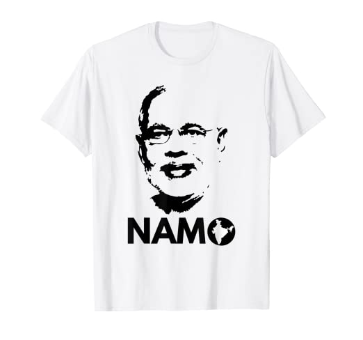 2d211c75 Amazon.com: Narendra Modi Face Namo Again 2019 India BJP T-shirt ...