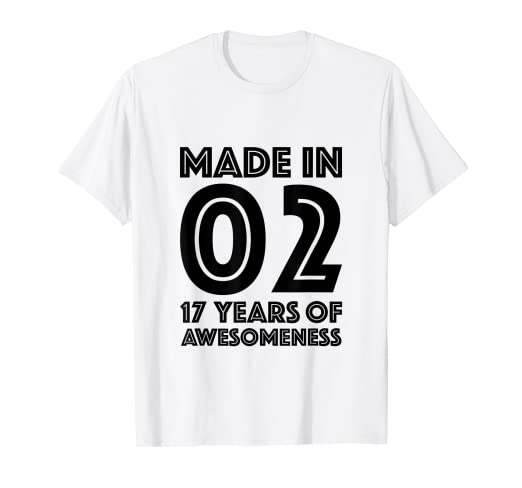 Image Unavailable Not Available For Color 17th Birthday Shirt Boy Age Seventeen 17 Year Old Gift Girls