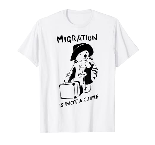 db6ff475 Image Unavailable. Image not available for. Color: Graffiti Tshirt  Migration is Not A Crime Shirts