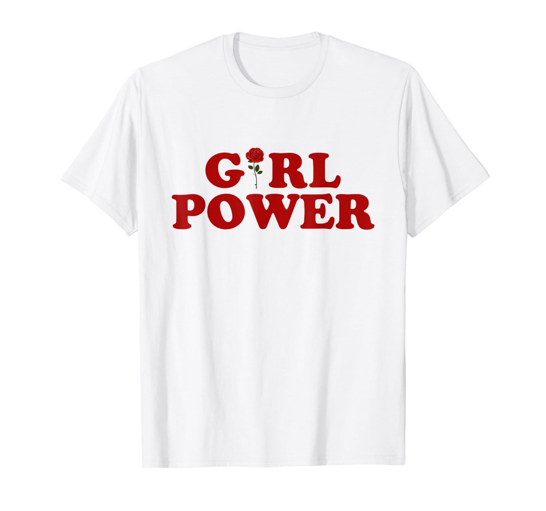 2b4cb9a3 Amazon.com: Girl Power T-Shirt Girl Power Rose T-Shirt Women shirt: Clothing