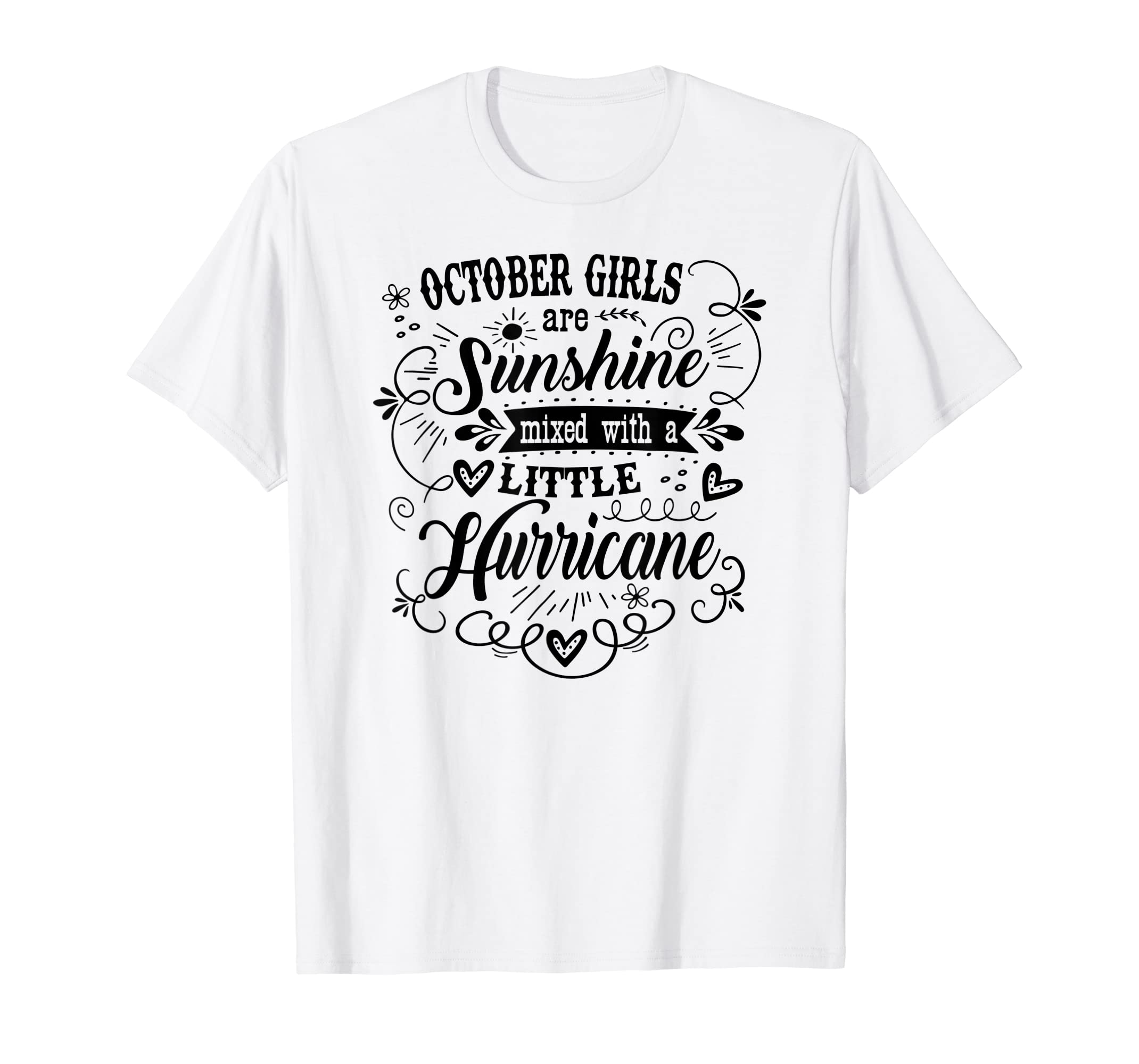 Amazon October Girl Funny Country Song Lyric Birthday Shirt Clothing
