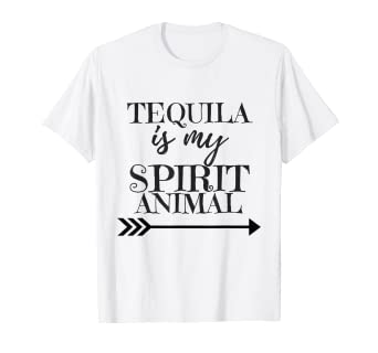 0d5babe5 Image Unavailable. Image not available for. Color: Tequila is my spirit  animal drinking t-shirt