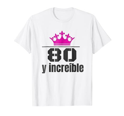 Camisa de Cumpleanos 80 Anos Spanish Birthday Shirt Mujer
