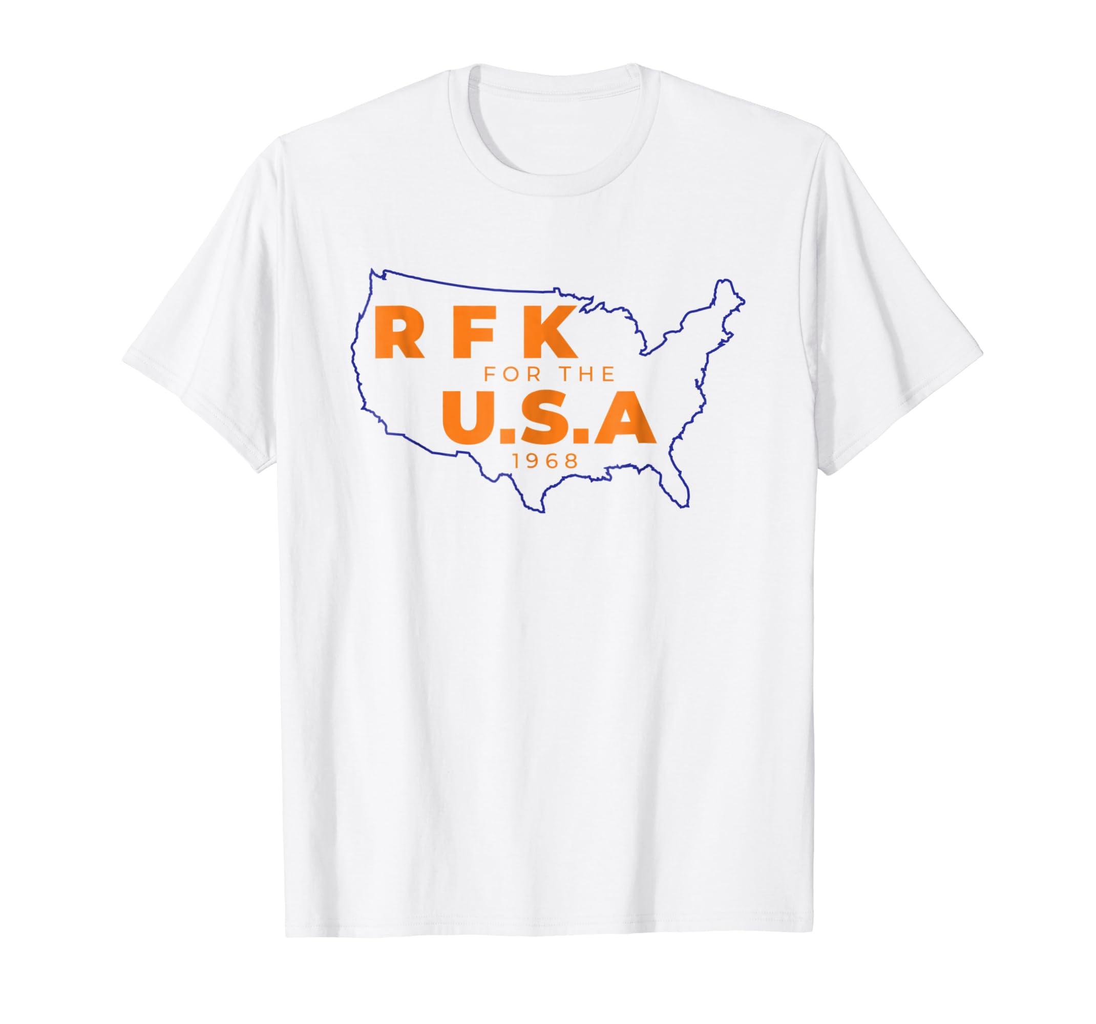 e2f42f90 Amazon.com: RFK Campaign Shirt Robert F Bobby Kennedy T-Shirt: Clothing