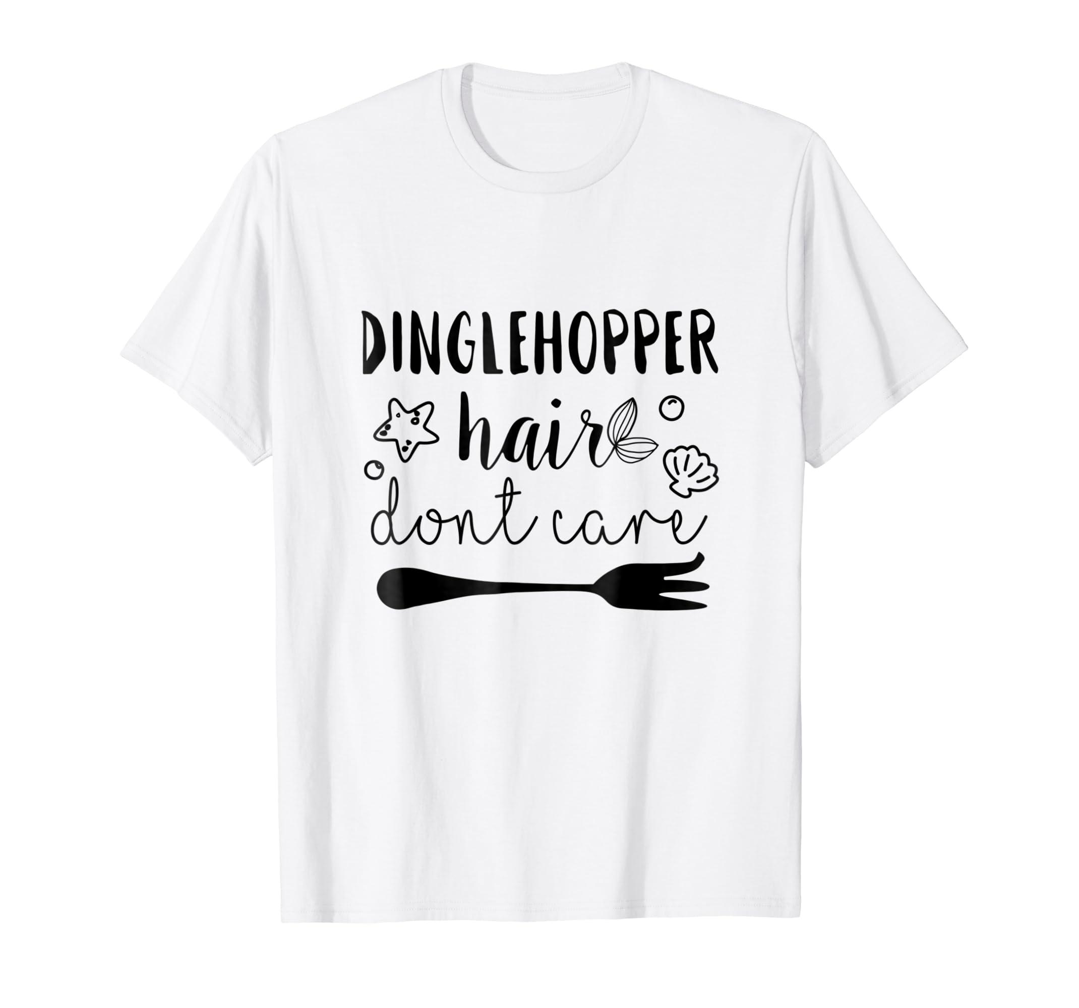 415d32cce Amazon.com: Dinglehopper Hair Don't Care Shirt Mermaid Hair Style Shirt:  Clothing