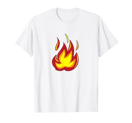 8def4d35d Image Unavailable. Image not available for. Color: Emojis Fire T Shirt ,  Flame ...