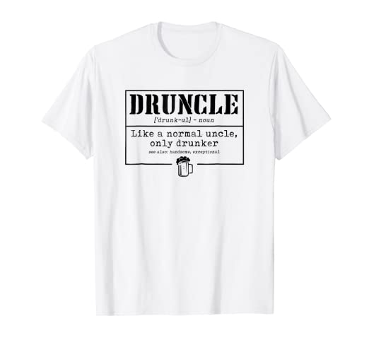 52902659 Image Unavailable. Image not available for. Color: Mens Druncle T-Shirt  Funny Tee Shirt Christmas Gift ...