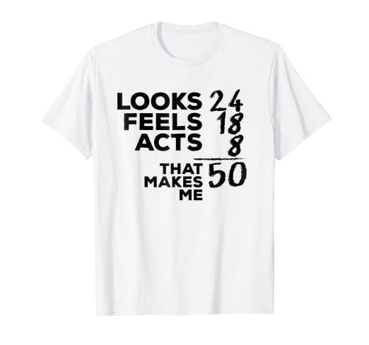 Amazon Funny 50th Birthday Shirt 50 Years Old Mom Dad Gift