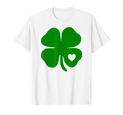 0233e2b3 Image Unavailable. Image not available for. Color: St Patricks Day Shirt Irish  Shamrock Heart for Women Men