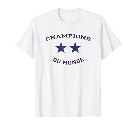Amazon Com World Champions Du Monde France 2018 T Shirt Clothing
