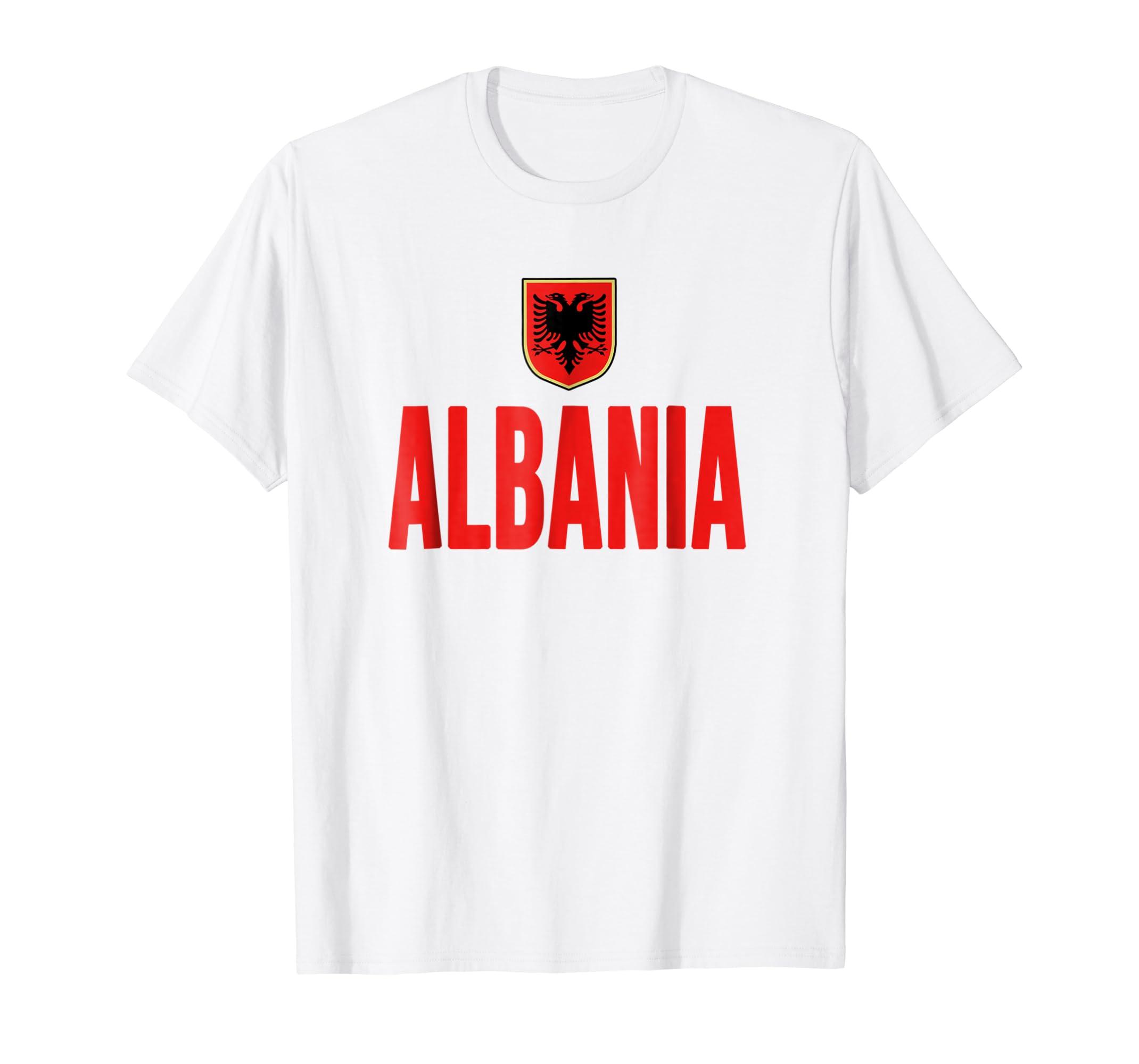 Albania T shirt Albanian Flag Soccer Football Fan Jersey-azvn