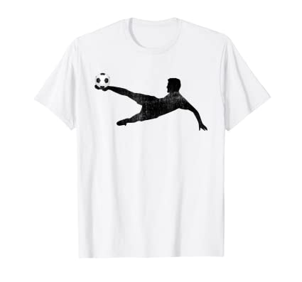 Soccer Ball Kicker T Shirt futbol player icon dives