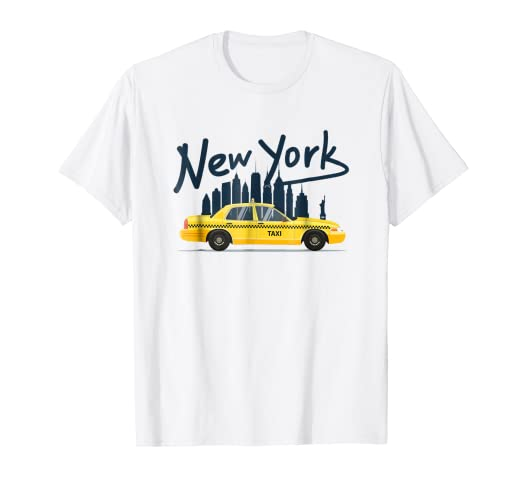 de48a4d5a Image Unavailable. Image not available for. Color: NYC New York Yellow Cab  Taxi Gift Souvenir Tee ...