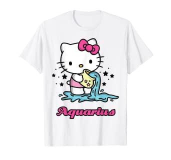 3eab4b9df Image Unavailable. Image not available for. Color: Hello Kitty Zodiac  Aquarius Tee Shirt