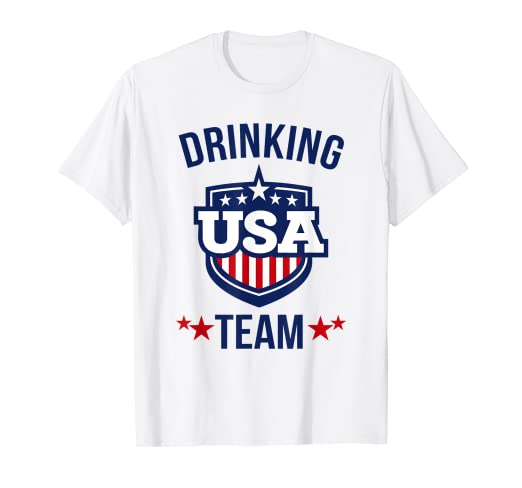 d7b380dbb Image Unavailable. Image not available for. Color: USA Drinking Team T-shirt