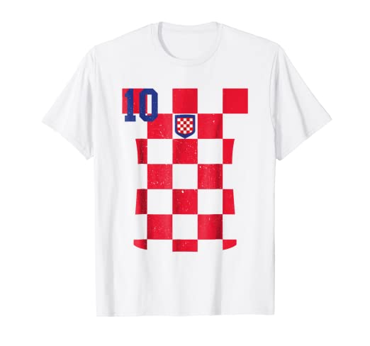 52ca07cad Image Unavailable. Image not available for. Color  Retro Croatia Soccer  Jersey Hrvatska Football T-Shirt