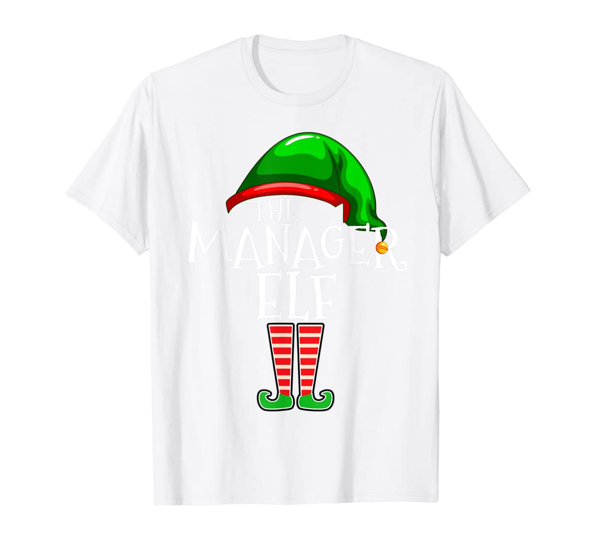 The Manager Elf Group Matching Family Christmas Gifts Boss T-Shirt-Men's T-Shirt-White