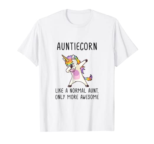 11c8f8ae4 Image Unavailable. Image not available for. Color: Aunticorn Like An Aunt  Only Awesome Dabbing Unicorn T-Shirt