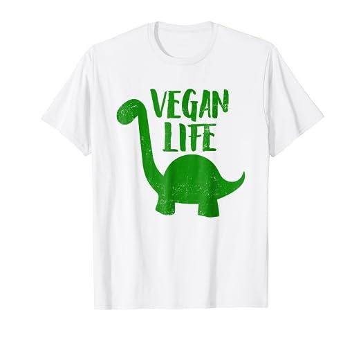 91d18ffb6e Image Unavailable. Image not available for. Color: Brontosaurus Funny Vegan  Life Herbivore Vegan Pride T-Shirt