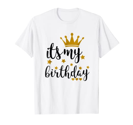 Amazon Its My Birthday Shirt For Women Teens Girls Black