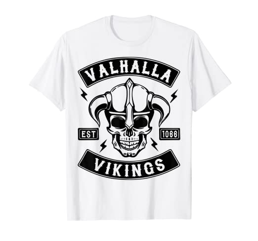 0dfd07275 Image Unavailable. Image not available for. Color: VALHALLA VIKINGS T SHIRT,  VIKING TSHIRT ...