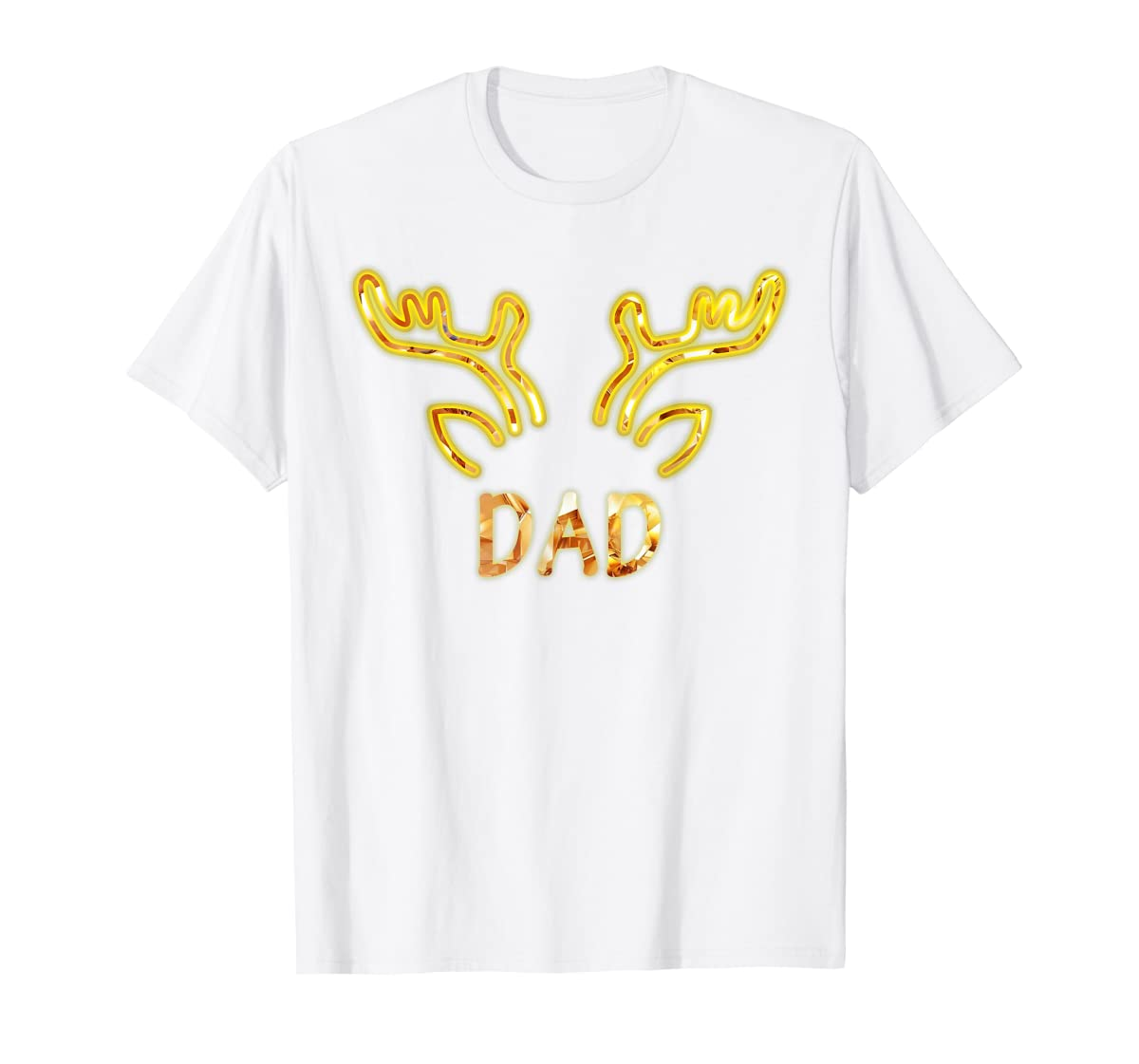 Dad Reindeer Matching Family Christmas T-Shirt T-Shirt-Men's T-Shirt-White