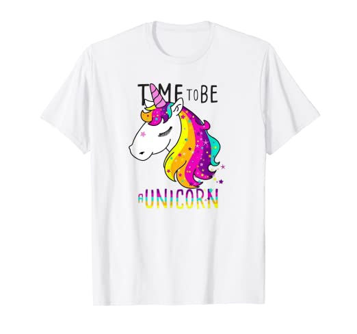 9b9bf1cf Amazon.com: Time To Be A Unicron | Unicorn T-Shirt: Clothing
