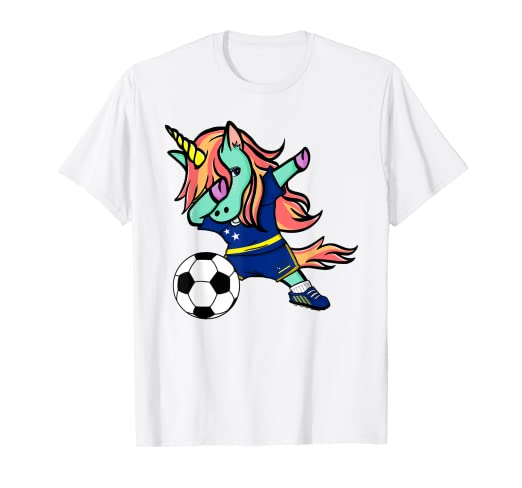 separation shoes 34d5e c9cc5 Amazon.com: Unicorn Dab Curacao Soccer Jersey National ...