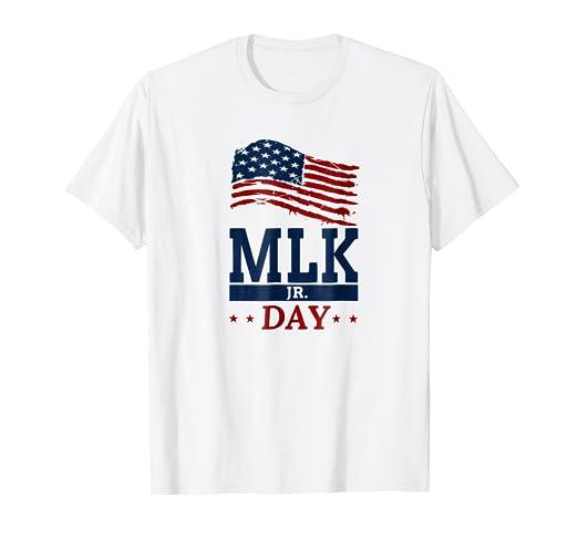 Amazon Com Martin Luther King Jr Day Usa Flag Tshirt For Mlk Jr