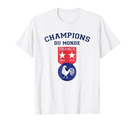 Amazon Com France Champions Du Monde T Shirt 2018 Clothing