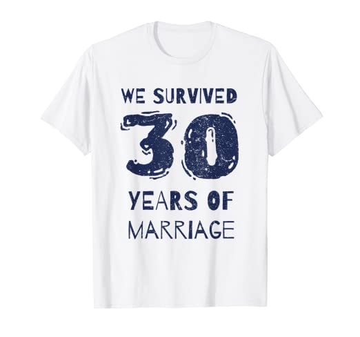 b78546f0 Image Unavailable. Image not available for. Color: Funny 30th Wedding  Anniversary T-Shirt ...
