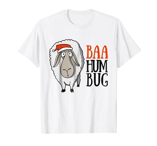 4a931cb79e Image Unavailable. Image not available for. Color: Baa Humbug T-Shirt Funny  Bah Humbug Sheep Christmas Shirt