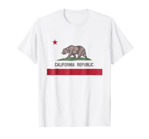 Bandera California Camiseta Ropa para mujer hombre ninos
