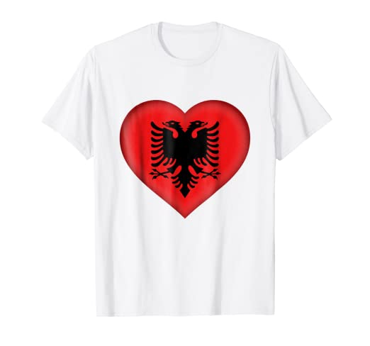 f1fe5c42e Image Unavailable. Image not available for. Color  I Love Albania T-Shirt