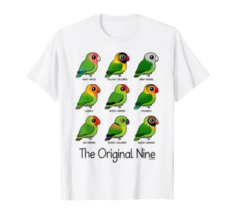 c1fd52e1d Amazon.com: Lovebirds: The Original Nine Cute Cartoon Bird T-Shirt ...