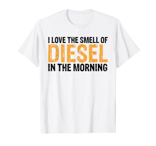 cac02947f Image Unavailable. Image not available for. Color: Trucker Shirt Smell Of Diesel  Tees Truck Driver Funny Gift