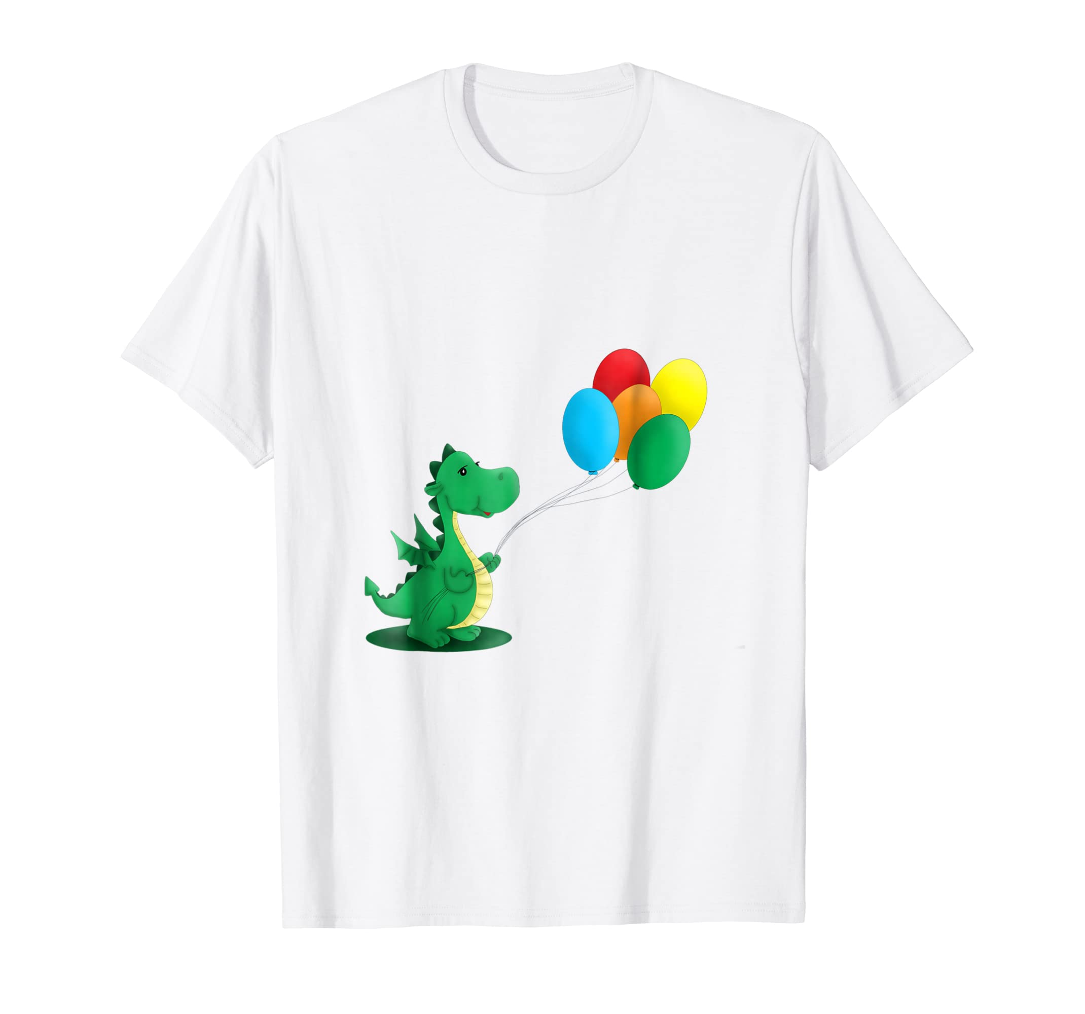 Amazon Happy Dragon Holding Balloons T Shirt Clothing