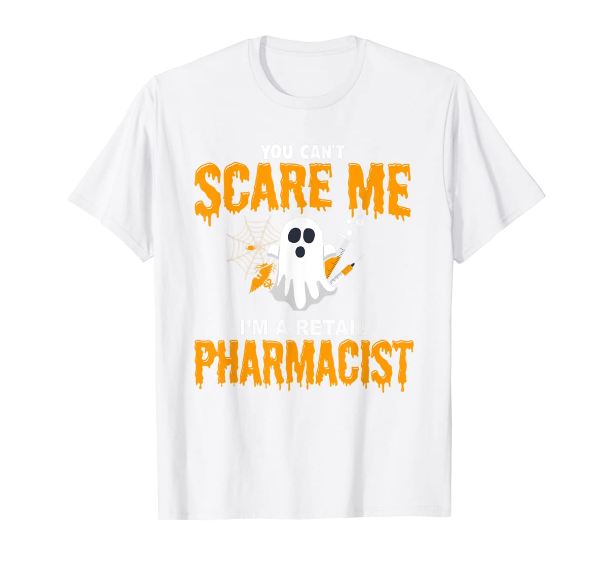 Halloween Costume Shirt I'm A Retail Pharmacist T-Shirt-Men's T-Shirt-White