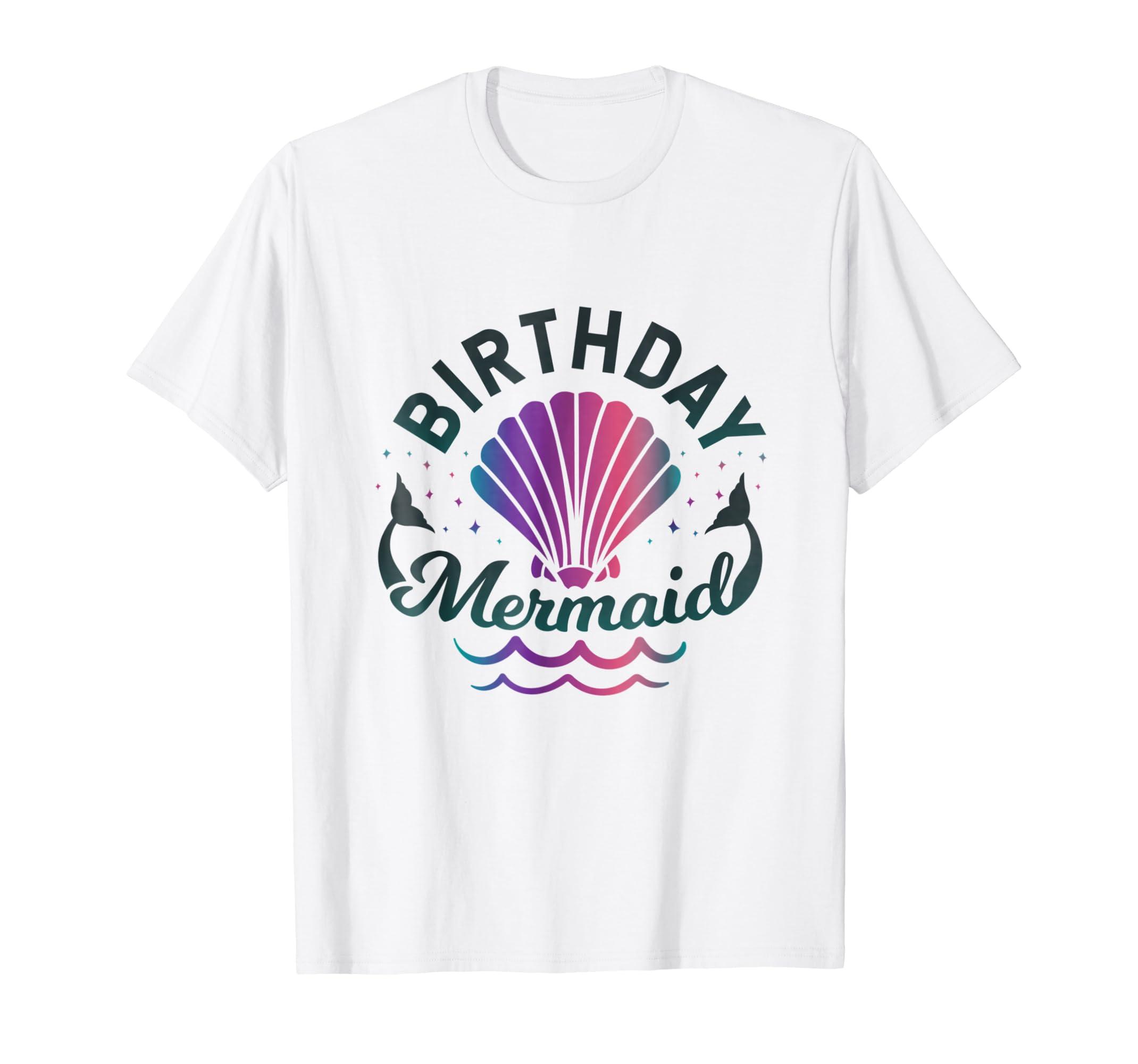 Amazon Birthday Mermaid T Shirt Clothing