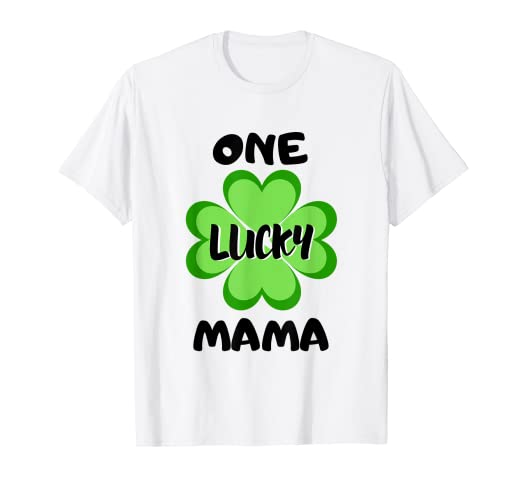 168f352b Image Unavailable. Image not available for. Color: One Lucky Mama - St  Patrick's Day Shirt For Mom