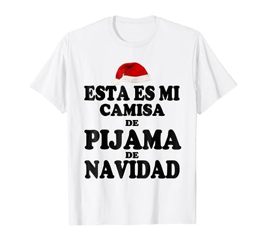 Esta Es Mi Pijama De Navidad Camiseta De Navidad Xmas TShirt