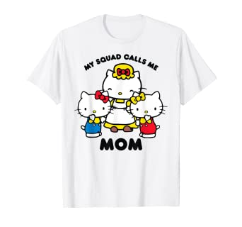 8c9f0c42e Image Unavailable. Image not available for. Color: Hello Kitty Mom Squad T- Shirt