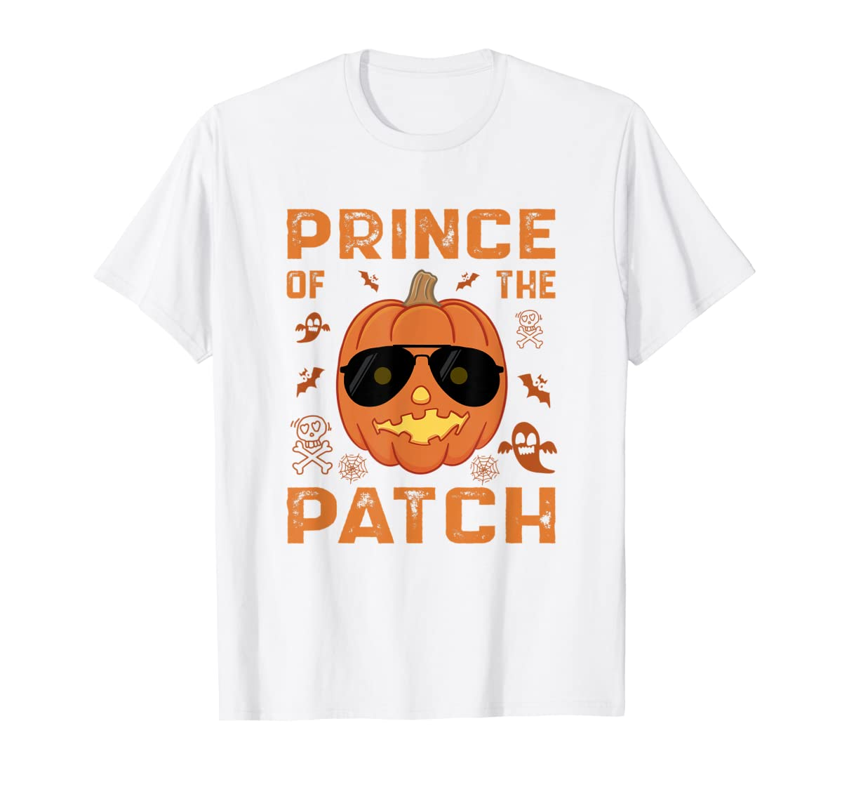 Pumpkin Prince of the Patch Group Family Halloween Costume T-Shirt-Men's T-Shirt-White