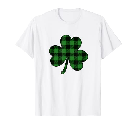 c1d1b7456 Image Unavailable. Image not available for. Color: St Patricks Day Shirt  Buffalo Plaid Shamrock Clover