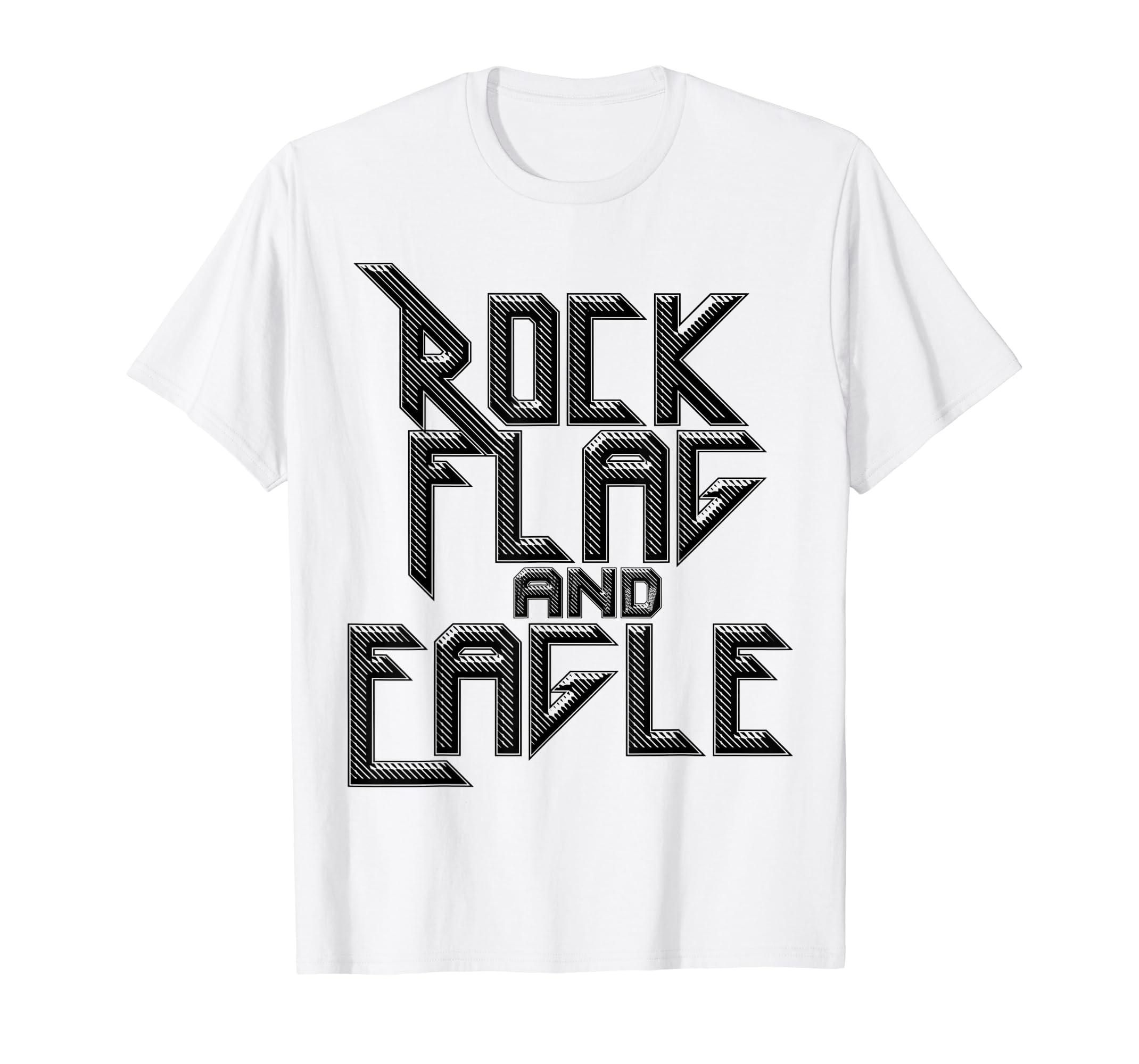 f42b80ae Amazon.com: ROCK FLAG AND EAGLE True American Tshirt for Men, Women:  Clothing